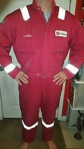 Red Halliburton Wenaas Insulated Coveralls Size 2xl Extra