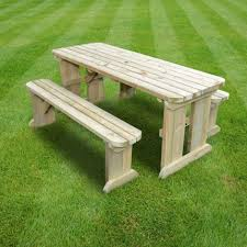 tinwell rounded picnic table and bench set 8ft