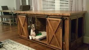 furniture style dog crate. Wood Dog Crate Furniture Farmhouse Style Single Kennel By And Barn Door .