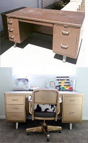 25 best ideas about metal desk makeover on