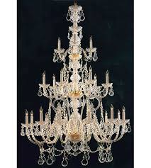 crystorama traditional crystal 21 light chandelier in polished brass italian crystals 5035 pb cl i