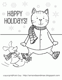 Winter coloring pages printable coloring pages for kids: 7 Pics Of Happy Holidays Winter Coloring Pages Winter Holiday Coloring Home