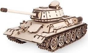 <b>Конструктор Eco Wood Art</b> деревянный 3D EWA Танк T-34 ...