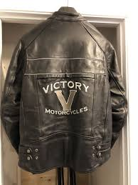 victory motorcycle men s large leather jacket