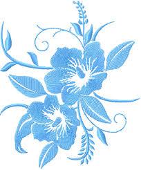 Machine Embroidery Patterns Mesmerizing Free Blue Flower Embroidery Design News Free Machine Embroidery