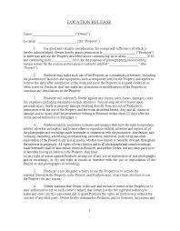 Footage Release Form Template Film Consent Extra Location