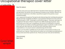 Cover Letter For Occupational Therapist Job - April.onthemarch.co
