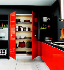 Red And Black Kitchen Tropical Backyard Landscape Designing Home
