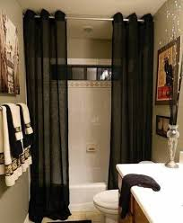 Bathroom , Bathroom Different Shower Curtain Ideas : Different Shower  Curtain Ideas Black Sheer Curtains