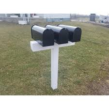 The Handy Post Post For 3 Mailboxes 42 In X 31 In X 5 In Vinyl Sleeve White
