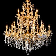 attractive luxury crystal chandeliers gold arms luxury big crystal chandelier d110h130cm large led