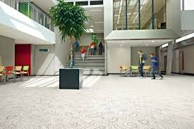 forbo sarlon acoustic vinyl flooring in a college environment
