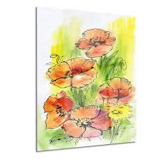 design art bouquet poppies floral metal wall art on bunch of poppies metal wall art with design art bouquet poppies floral metal wall art walmart canada