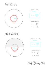 Circle Skirt Chart Diy Tips Circle Skirt Formulas Half Third And Quarter