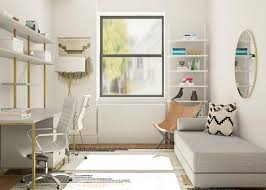 Guest room and office ideas Decorating Ideas Guest Room Decorating Ideas For Medium Space Modsy Blog Simple Officemeetsguest Room Decorating Ideas Modsy Blog
