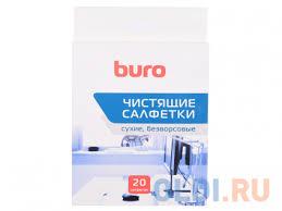 Чистящие салфетки BURO BU-UDRY 20 шт — купить по лучшей ...