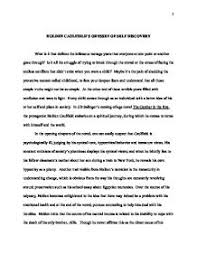 the catcher in the rye essay introductions the catcher in the rye essays gradesaver