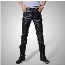 2019 men skinny faux pu leather pants shiny black gold silver trousers nightclub stage performance singers r jeans plus size 4xl from moonlight710