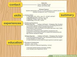 Technical Skills On A Resumes How To Write A Technical Resume 15 Steps With Pictures