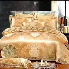 black and gold duvet sets uk 6pcs lace design jacquard silk bedding sets luxury gold white