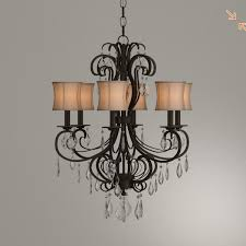 world imports annelise 6 light bronze chandelier with fabric shades and crystal drop accents for in little elm tx offerup