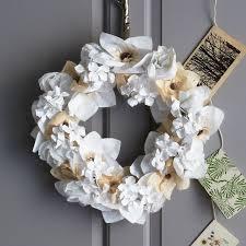 Christmas Paper Flower Wreath 15 Stunning Christmas Wreath Ideas