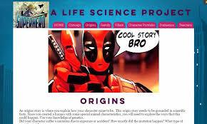 Characteristics Of A Superhero Superhero A Life Science Pbl