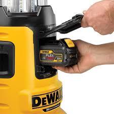 dewalt light. dewalt-dcl070-flexvolt-led-work-light-battery-compartment dewalt light