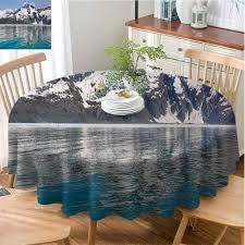 Northern Lights Coupon Book Kenai Fjords Amazon Com Ficldxc Soft Round Tablecloth Alaska Protection