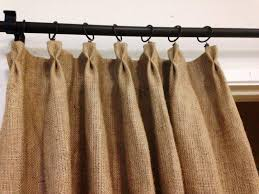 image of burlap rustic shower curtains