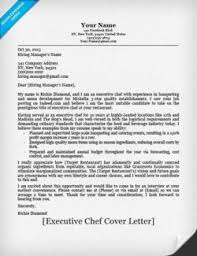 Chef Cover Letter Michael Resume