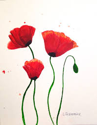 red poppy original watercolor painting flower painting red flowers wall art red and white poppy flower poppy flowers 8x10 on red poppy flower wall art with red poppy original watercolor painting flower painting red flowers