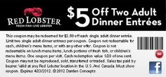 Red Lobster Printable Coupon World Of Printable And Chart