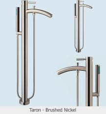 taron floor mounted bathroom faucet brushed nickel