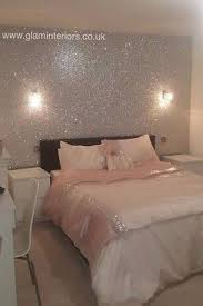 glitter wallpaper bedroom