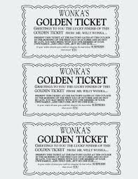 Willy Wonka Golden Ticket Template And Amazing Of Willy Golden ...
