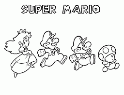 Coloring Pages Super Mario Coloring Pages Toad Printable For Kids
