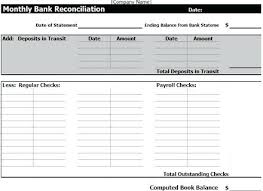 Bank Reconciliation Example Impressive Bank Reconciliation Form Fuel Template Gocreatorco