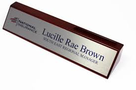 business card holder desk sign
