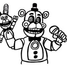 Remarkable Funtime Foxy Coloring Pages Freddy Beautiful All Page Of