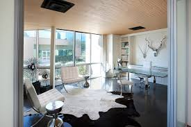 commercial office space executive office casual european furnishings finish the space in metal white and black blue white office space