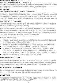 owner installer manual and warranty information pdf to prevent accidental discharge of hot water through the vent pipe whilst checking the valve