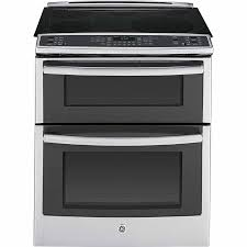 ge profile double oven. GE Profile Series PS950SFSS 4.4 Cu. Ft. Slide-In Electric Range W/ Convection Double Oven - Stainless Steel Ge
