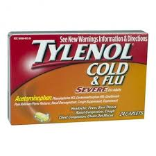 Tylenol Cold And Flu Severe Dosage Chart Tylenol Cold Flu Severe Adults 24 Caplets