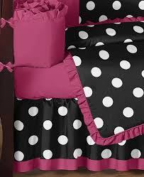 Pink Black And White Hot Dot Baby Bedding By Sweet Jojo Designs 9