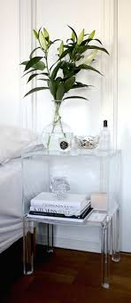 acrylic bedside table. Plain Acrylic Bright White Bedroom With Acrylic Furniture Accents More Nightstand   In Bedside Table L