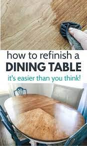 refinish dining tables
