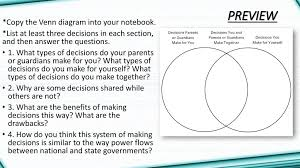 The Federal In Federalism Venn Diagram Answers Chapter 6 Federalism National State And Local Powers Ppt Download