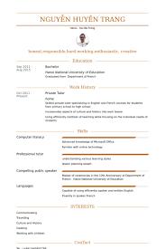 Private Tutoring Resume Professional Resume Templates