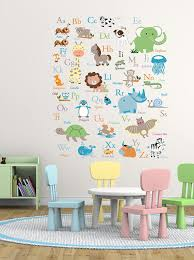 vinyl wall decal abc wall decal